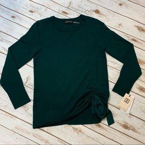 Ivanka Trump Emerald Green Long Sleeve Sweater
